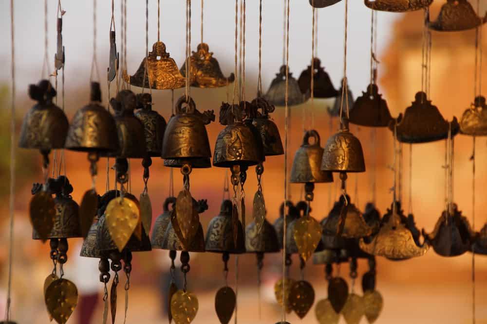 Myanmar - Burmese temple bells sway gently in the wind, Htilominlo TempleBagan Myanmar (Burma)