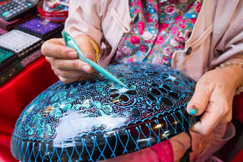 lacquerware myanmar souvenirs shutterstock_368812982