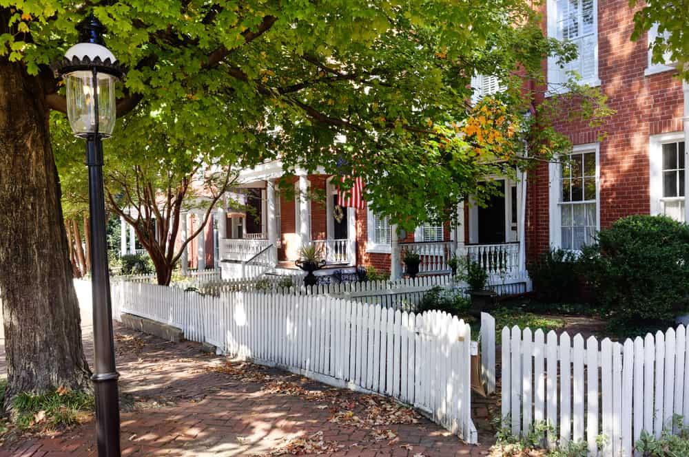 USA - Virginia - Historic restored Richmond, Virginia Churchill neighborhood. Horizontal.