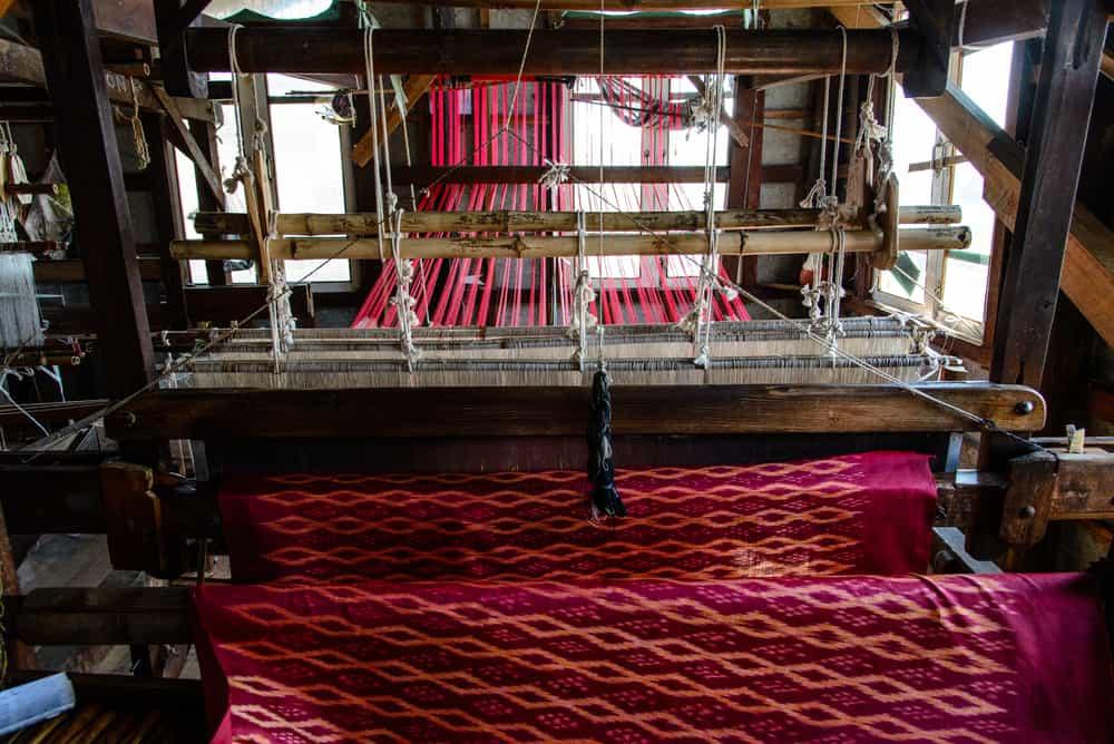 Myanmar - traditional weaving loom around Inle Lake, Myanmar