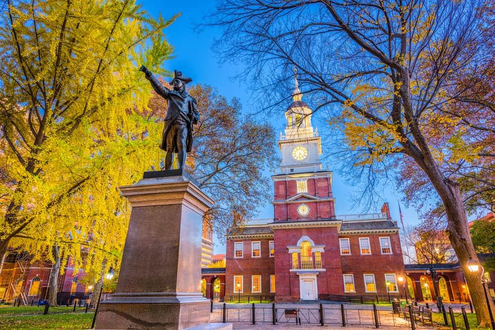 USA - Pennsylvania - Philadelphia - Independence Hall in Philadelphia, Pennsylvania, USA.