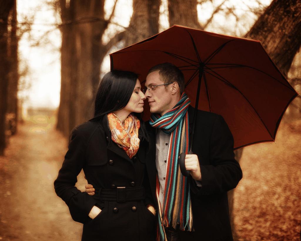Romantic Travel Gifts - A Two Person Umbrella makes a perfect couple's souvenir