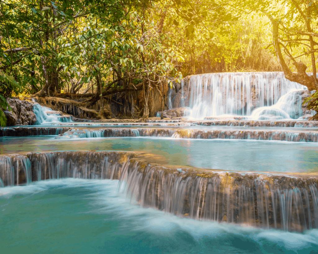 Laos - Luang Prabang - Tat Kuang Si Waterfalls - Canva