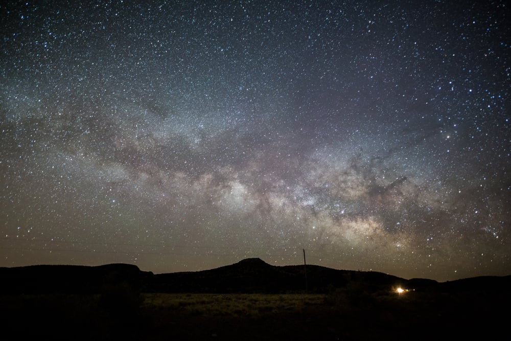 Starry night over the New Mexico desert