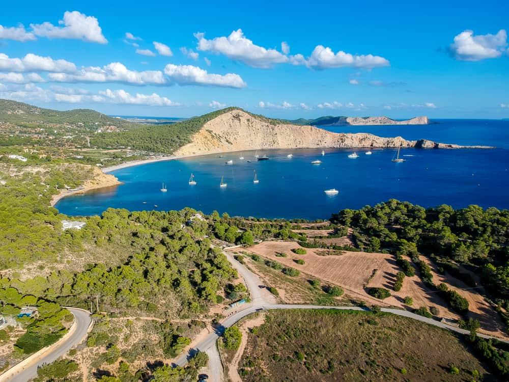 Spain - Ibiza - Ibiza beach. Cala Jondal, South of Ibiza, Spain.