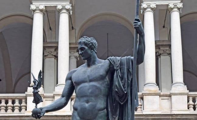 Statue of Napoleon, Pinacoteca de Brera in Milan Italy