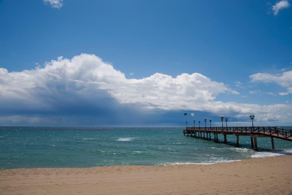 nagueles beach in the winter season, Marbella