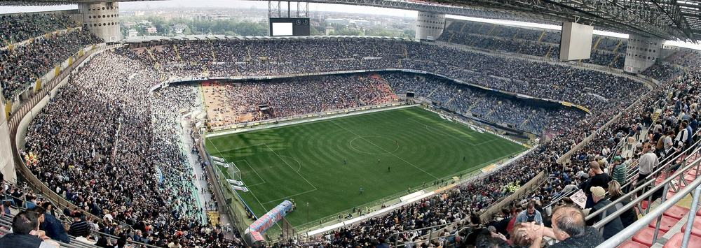 Meazza stadium in Milan, Italy
