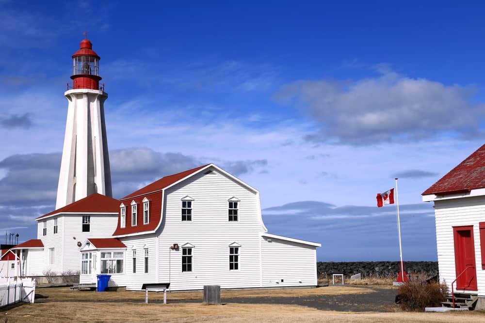 Lighthouse at Pointe-au-Pere, near Rimouski, Quebec, Canada.