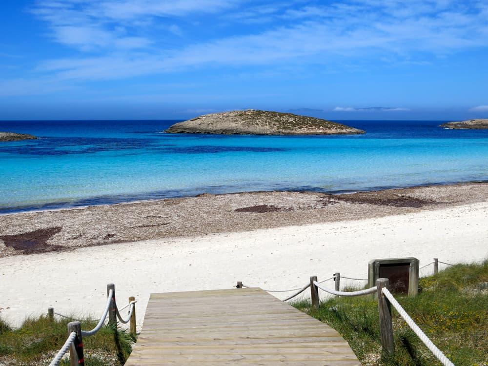 Platja de ses Illetes, a heavenly beach in Formentera (Balearic Islands)