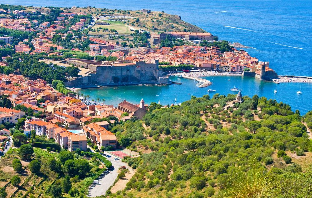 Collioure harbour, Languedoc-Roussillon, France, french catalan coast