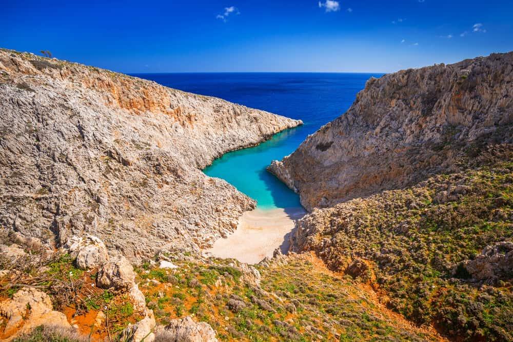 Seitan limania beach on Crete, Greece
