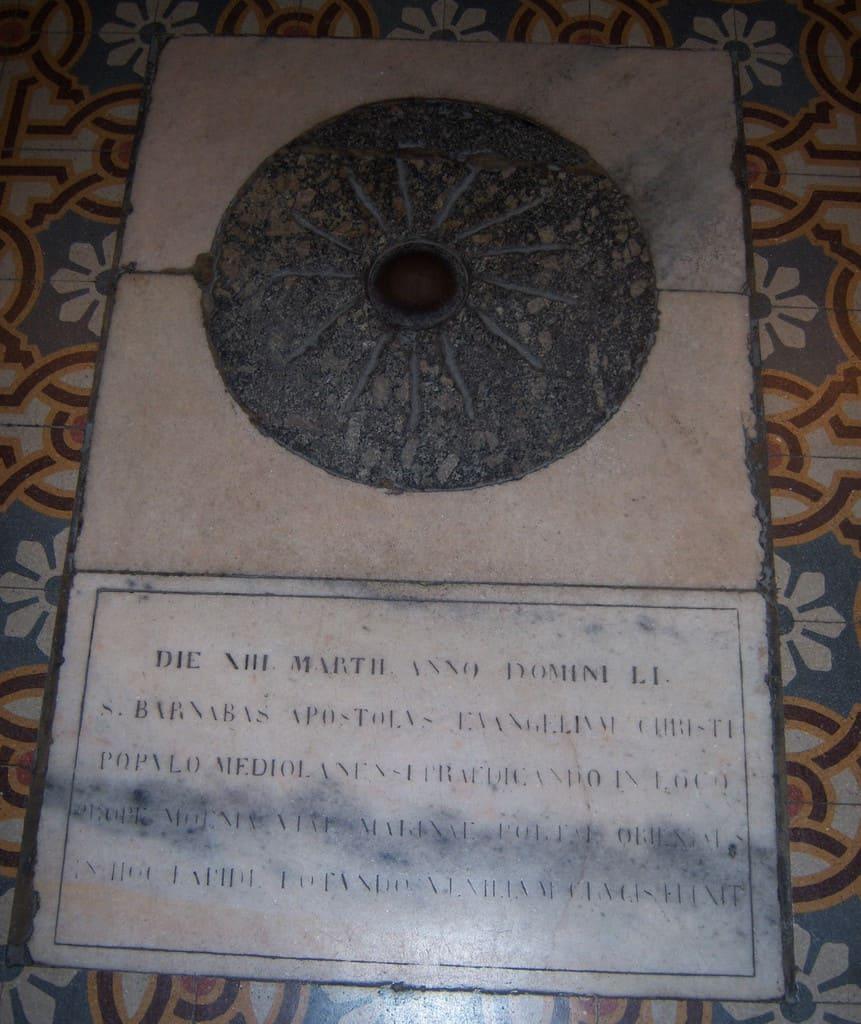 Italy - Milan - The stone of the Tredesin de Mars in Santa Maria al Paradiso