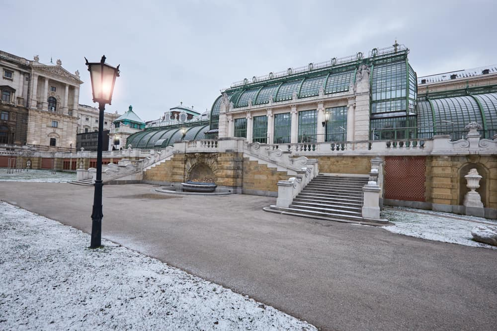Imperial Butterfly House (Schmetterlinghaus, a famous Art Noveau building) in Vienna, Austria, in winter
