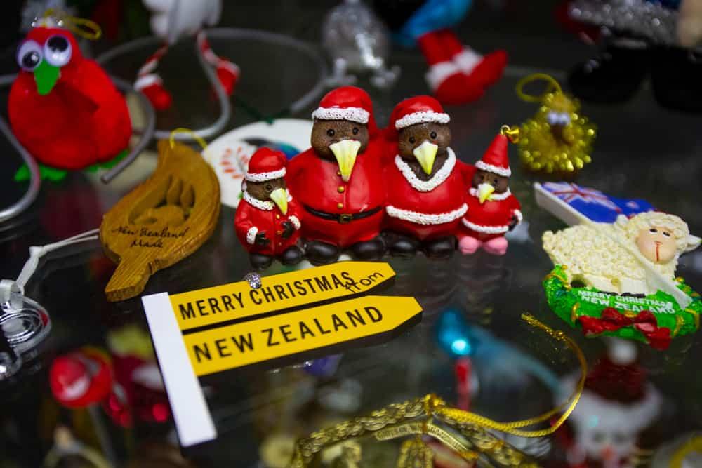 Vintage Christmas tree toy decorations from new zealand Kiwi bird
