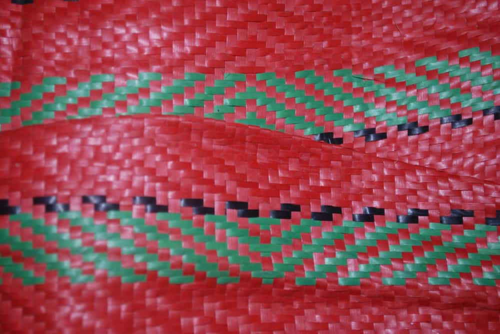 Red and green Handwoven mat