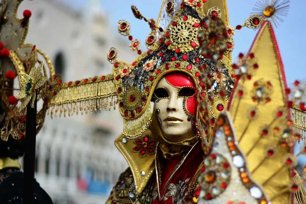 Italy - Milan - a beautiful oriental costume for carnival