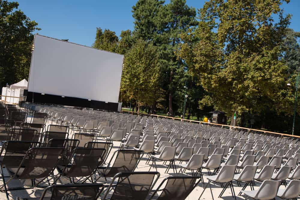 Italy - Milan - The open air movie theater during the Milan film festival, Italy