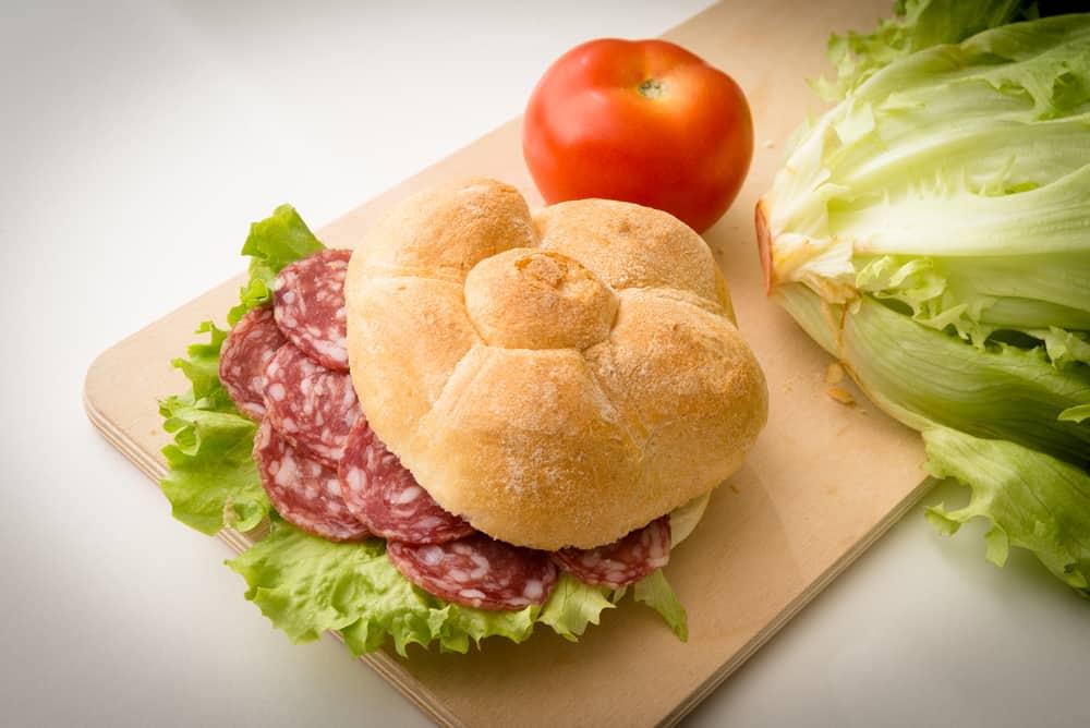 Italy - Milan - Salami Sandwich, Italian Food