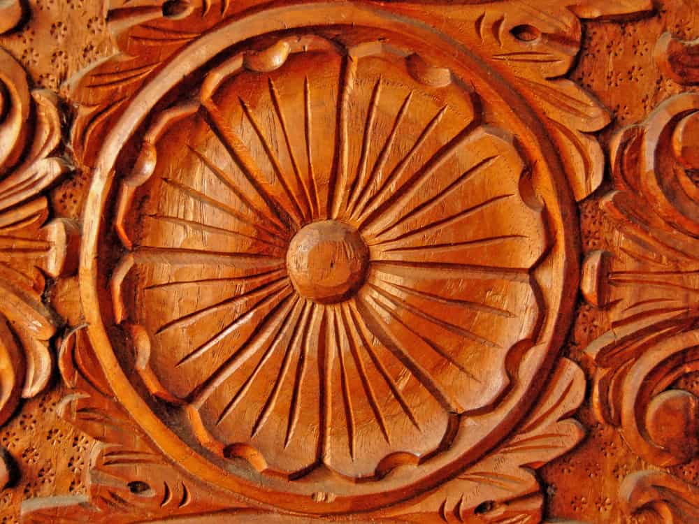 solid philippine hardwood with intricate hand carving