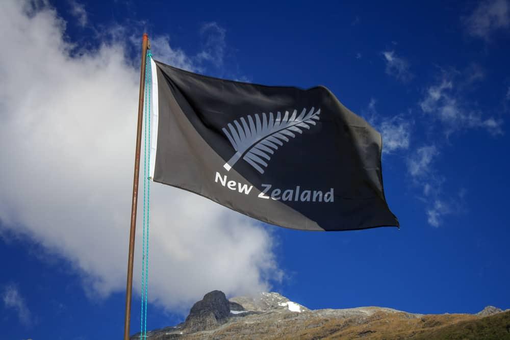 all Blacks New Zealnd flag. Location: New Zealand Aotearoa
