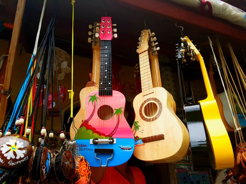 A Cebu Souvenir Guitar from the Philippines Gifts