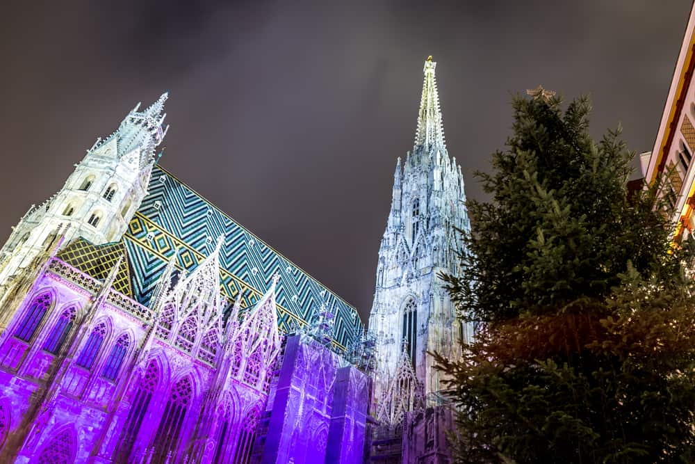 St. Stephen's Cathedral in Vienna in Christmas time, Austria