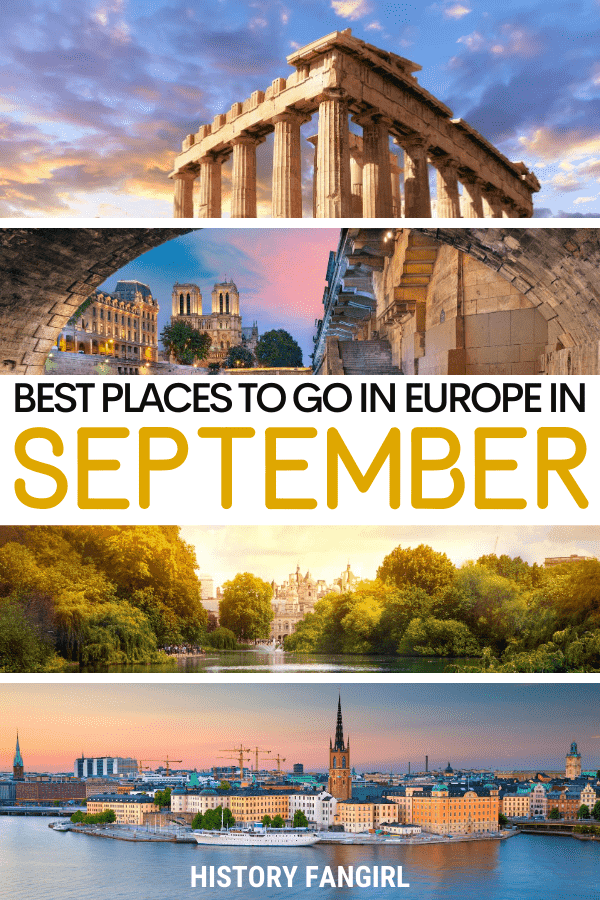 27 of the Best Places to Visit in September in Europe for a Late Summer Getaway