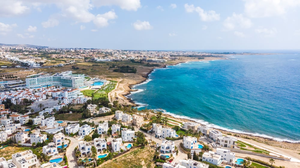 Cyprus - Paphos - Seascape and luxurious location in Paphos Cyprus 2018, luxurious resorts