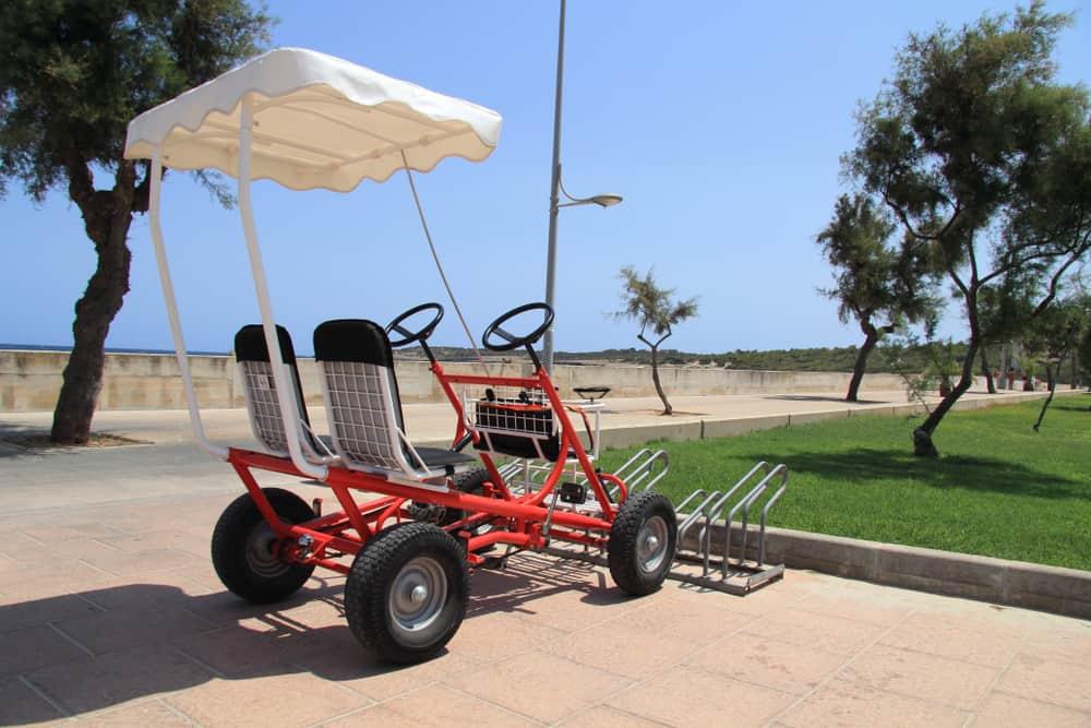 Spain - Mallorca - a quad on the beach with sun roof