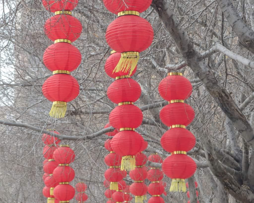 Spain - Mallorca - Decoration for Chinese new year at PERE GARAU, Palma de Mallorca