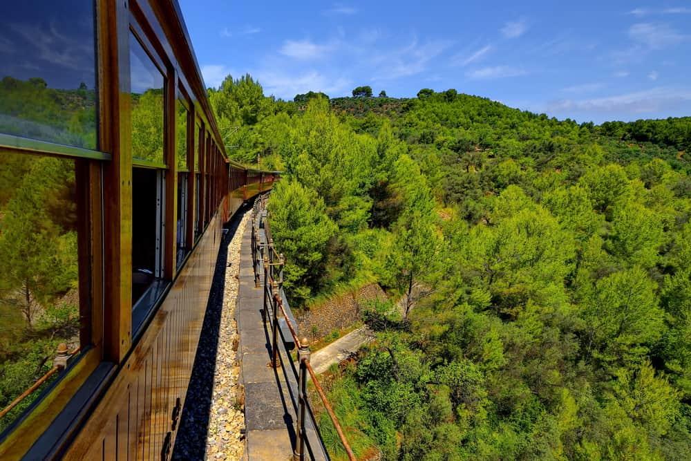 Spain - Mallorca - Vintage train in Soller, Mallorca, Spain