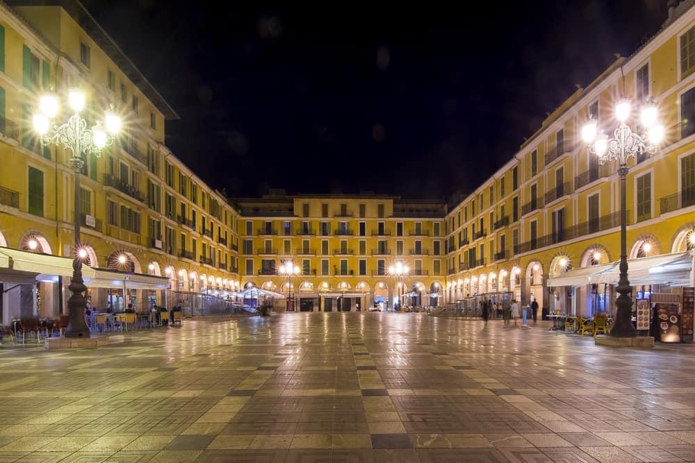 Spain - Mallorca - Placa Major square at night, Palma, Mallorca, Spain