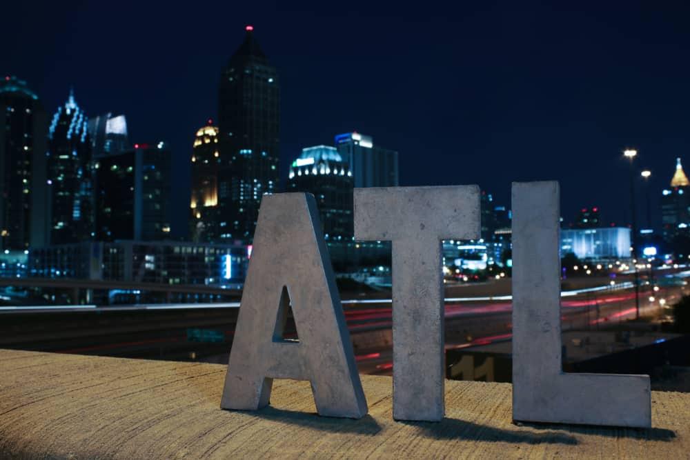 USA - Georgia - ATL sign at night