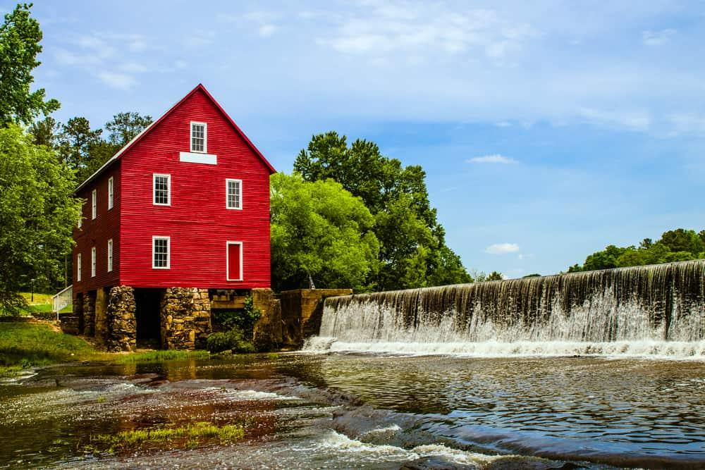 USA - Georgia - Starr's Mill, a historic landmark near Atlanta, Georgia