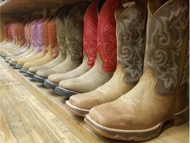 USA - Tennessee - USA - Tennessee- Nashville - row of cowboy boots, Nashville