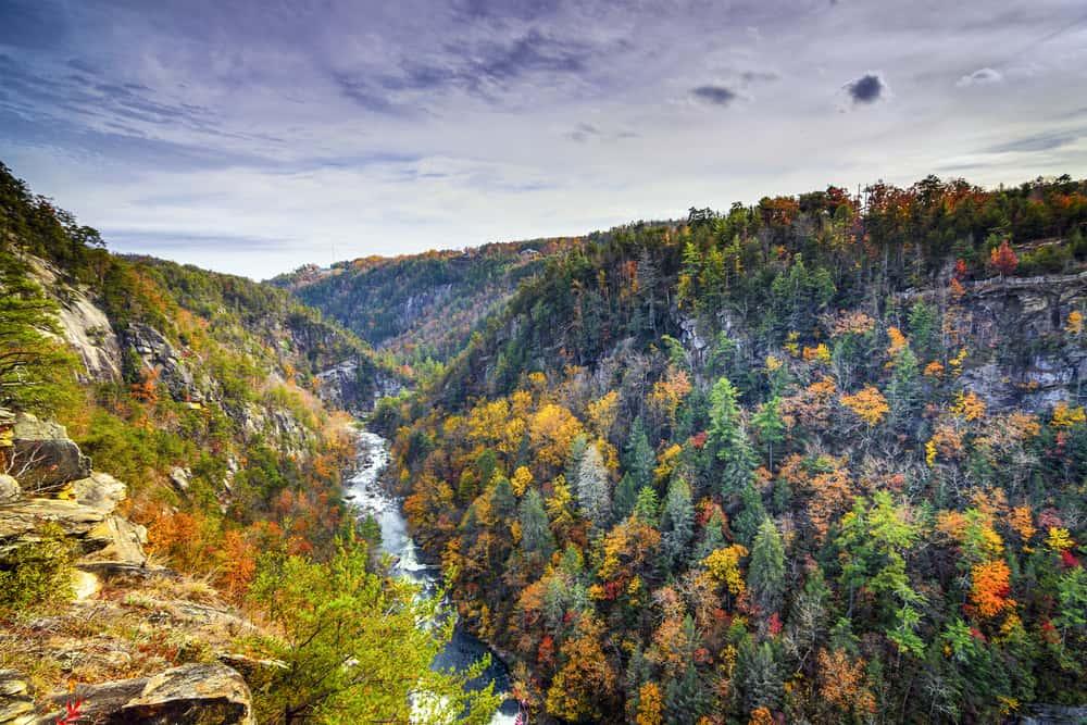 USA - Georgia - Tallulah Gorge in Georgia, USA.