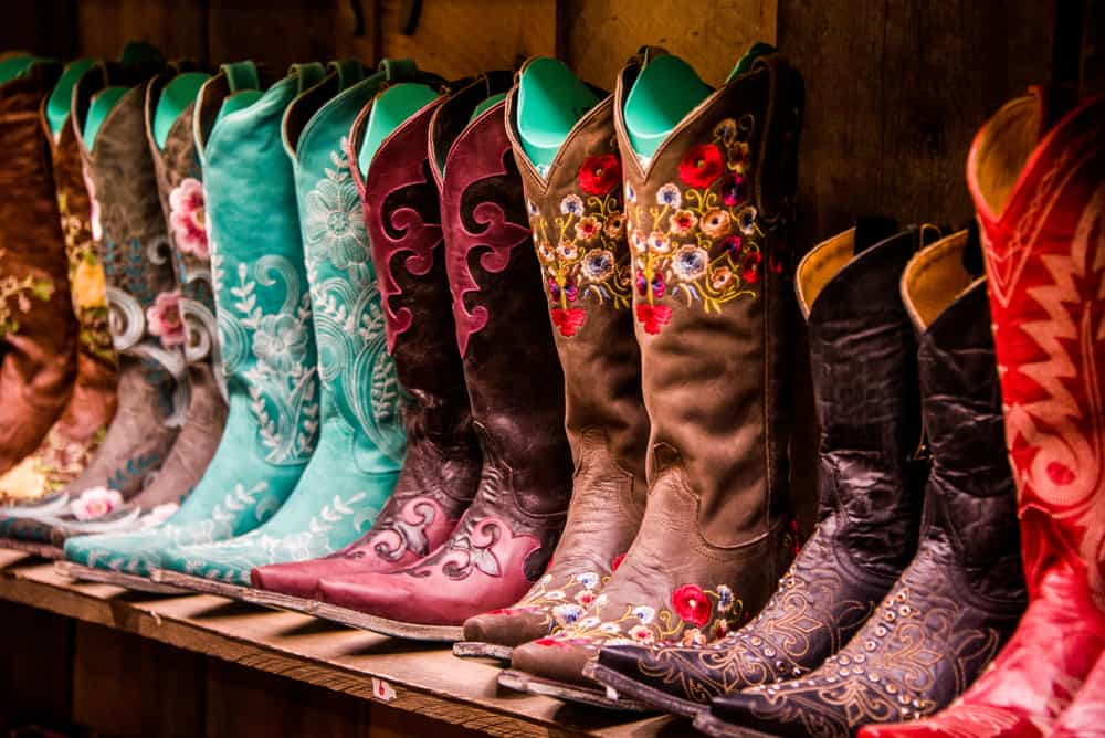 USA - Tennessee - Nashville - Cowboy Boots on a shelf