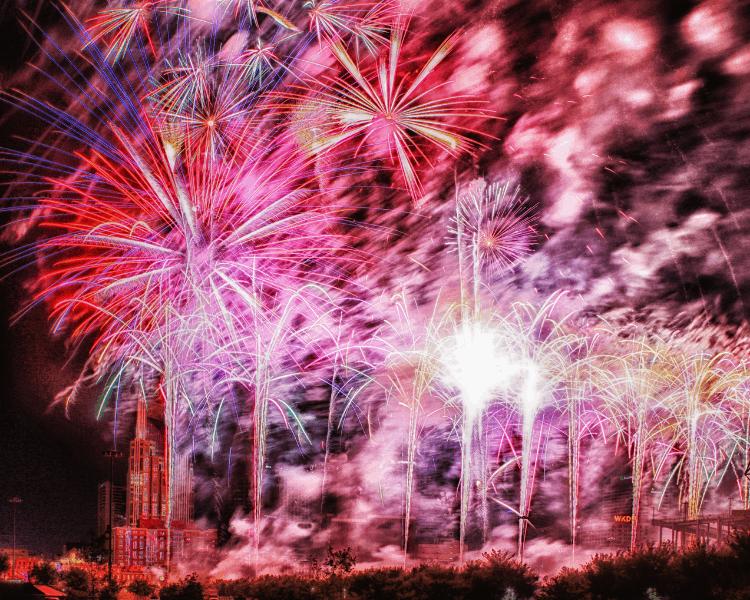 USA - Tennessee - Nashville Fireworkds