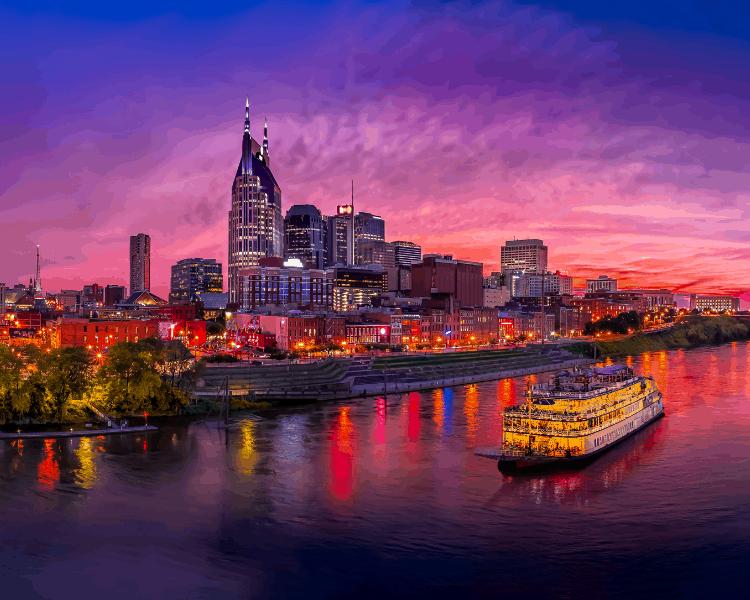USA - Tennessee - Nashville - Nashville Skyline