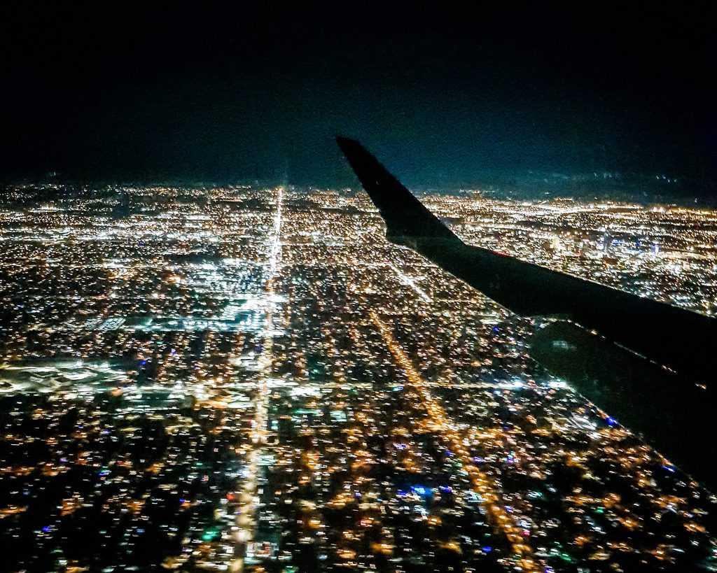 USA - Oklahoma - Oklahoma City - Landing airplane in OKC