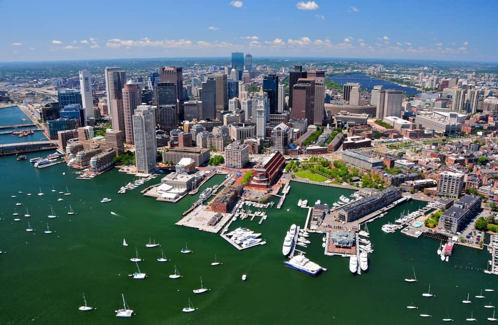 USA - Massachusetts - Aerial view of Boston, MA, USA