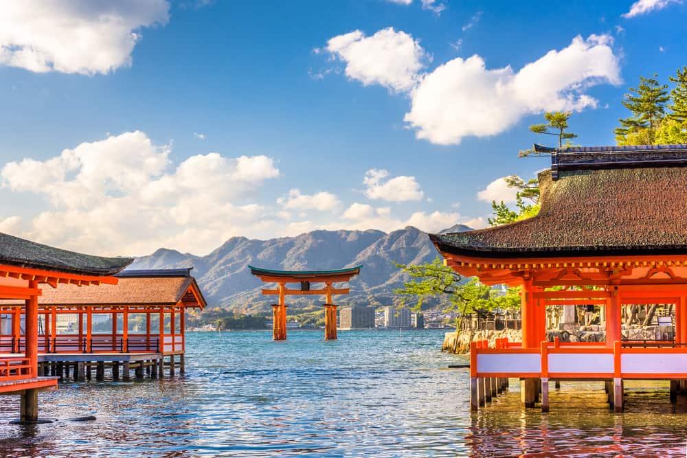 Japan - Hiroshima - Miyajima, Hiroshima, Japan floating shrine.