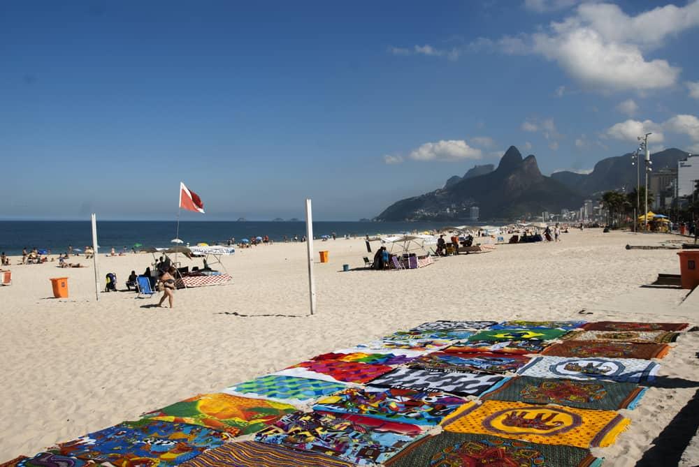 Colorful,Cangas,,In,The,Sand,Of,Ipanema,Beach,,Rj.,Horizontal