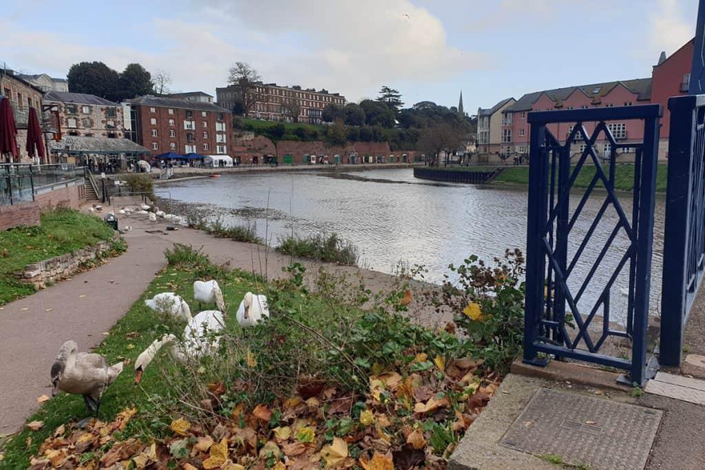 Exeter Quayside from Bridge
