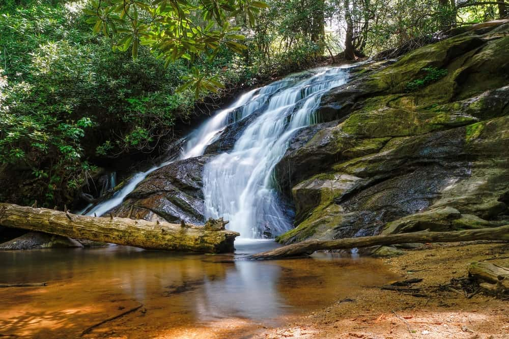 Waterfall,From,The,Appalachian,Trail,Appalachian,Trail,,Appalachian,Mountains,,Georgia