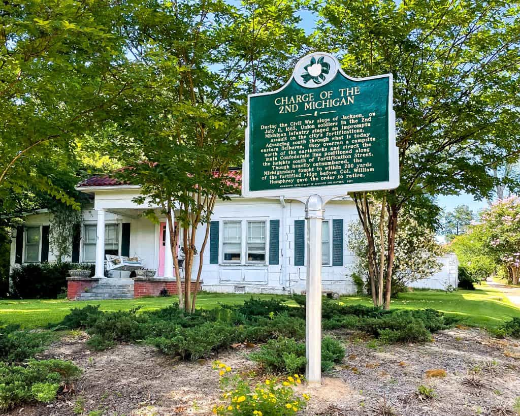 Mississippi - Jackson - Belhaven Historic District - Charge of the 2nd Michigan Civil War Historic Marker