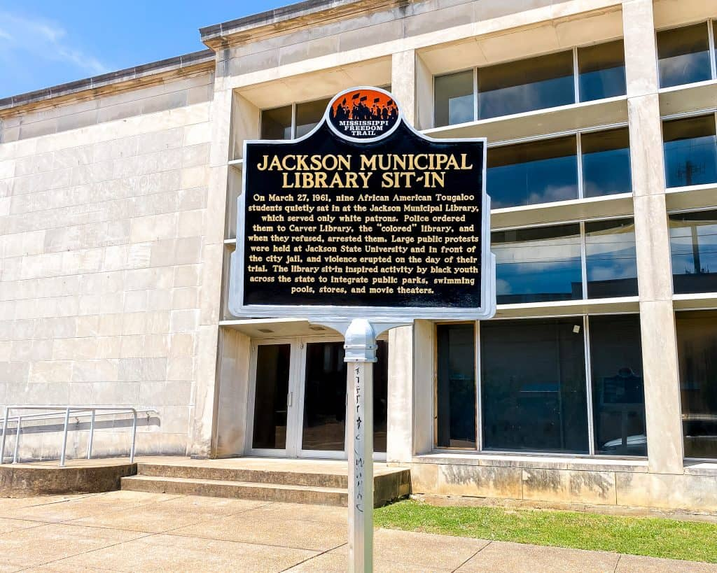 Mississippi - Jackson - Jackson Municipal Library Sit-In sign