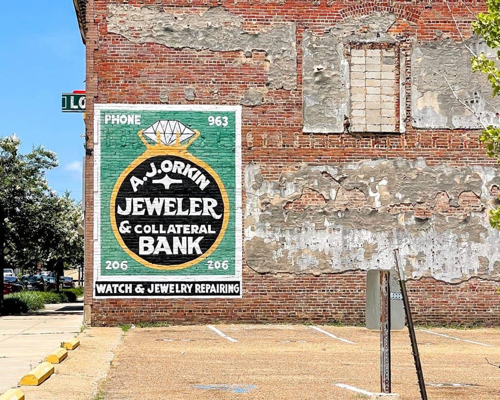 Mississippi - Jackson - Downtown Jackson - A.J. Orkin Jeweler Sign