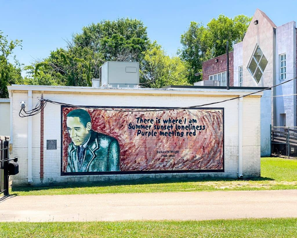 Mississippi - Jackson - Farrish Street Historic District - There is where I am summer sunset loneliness purple meeting red - Richard Write Quote Mural